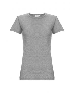 Women's Cotton Classic T-Shirt in Grey Melange