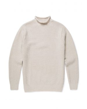 Men's Merino Wool Guernsey Jumper in Natural