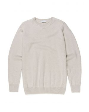 Men's Cotton Merino Jumper in Natural