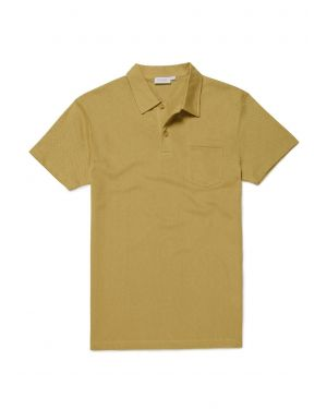 Men's Cotton Riviera Polo Shirt in Olive Green