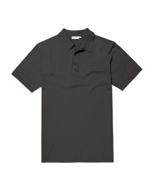 Men's Sea Island Cotton Knit Polo Shirt in Petrol