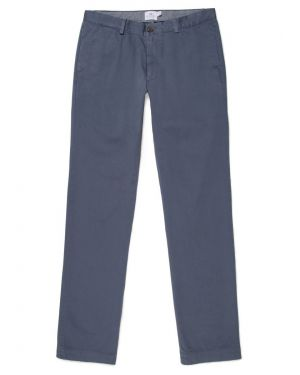 Men's Cotton Chino Trousers in Blue Slate