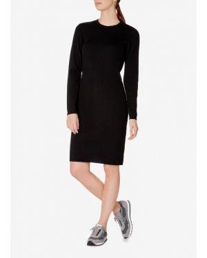 Women's Merino Wool Rib Dress in Black