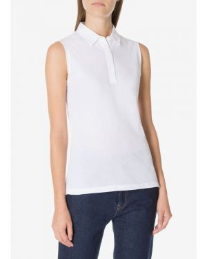 Women's Sleeveless Riviera Polo Shirt in White