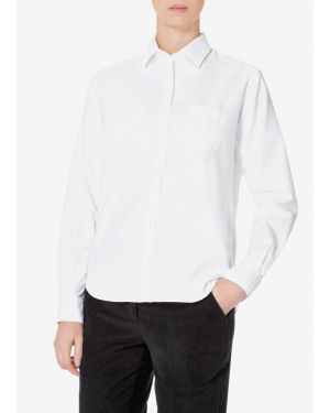 Women's Cotton Oxford Shirt in White