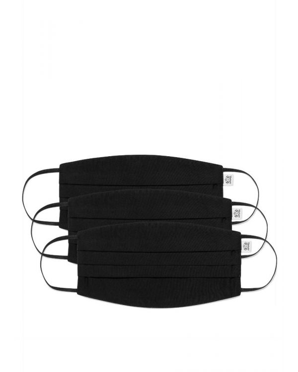 Lot de 3 Sunspel masques en coton en noir