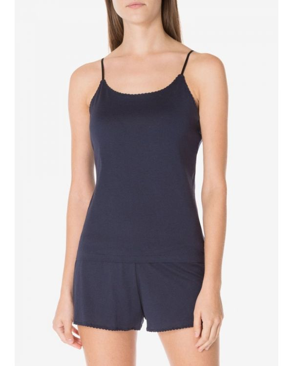 Women's English-Spun Cotton 1937 Cami in Navy