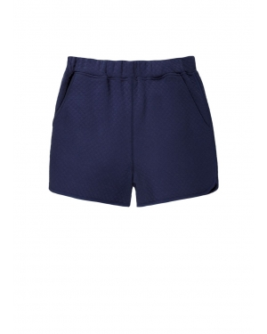 Women's Quilted Cotton Shorts in Navy