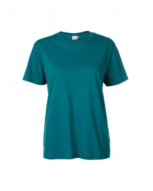 Women's Distressed Cotton Relaxed Crew Neck T-Shirt in Lark