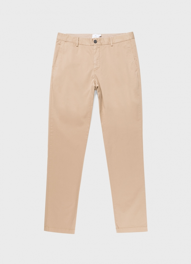 Men's Stretch Slim Fit Chino in Stone