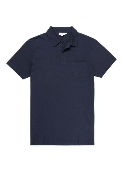 Men's Cotton Riviera Polo Shirt in Navy